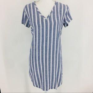 Cloth & Stone Anthropologie Linen Tunic  Dress